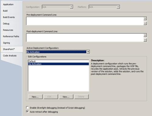 Cambio della configurazione di deployment delle soluzioni SharePoint 2010 in Visual Studio 2010