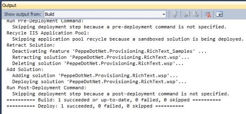 Mancata attivazione automatica della feature in fase di deployment da Visual Studio 2010