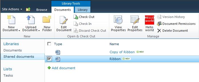 Abilitare o disabilitare un controllo di un Ribbon in base alla selezione dell'utente