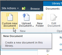 Hide new button from Ribbon toolbar
