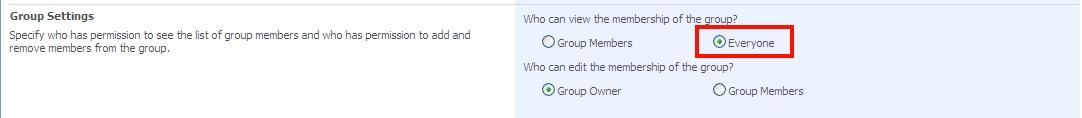 Abilitare la visibilità dei membri di un gruppo