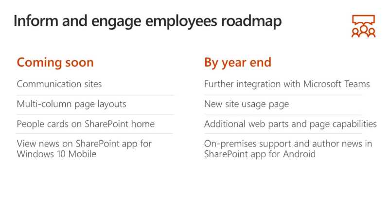 SharePoint Roadmap 2017