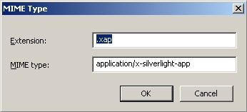 Silverlight mime type configuration