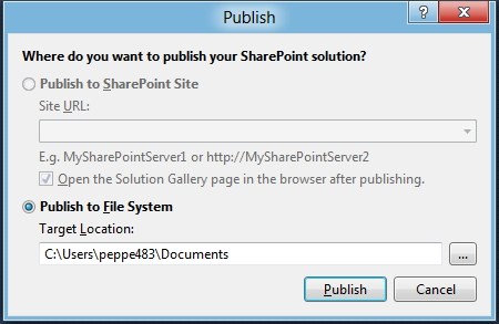 Visual Studio 11 for SharePoint Tip#4: addio all'azione di menu package