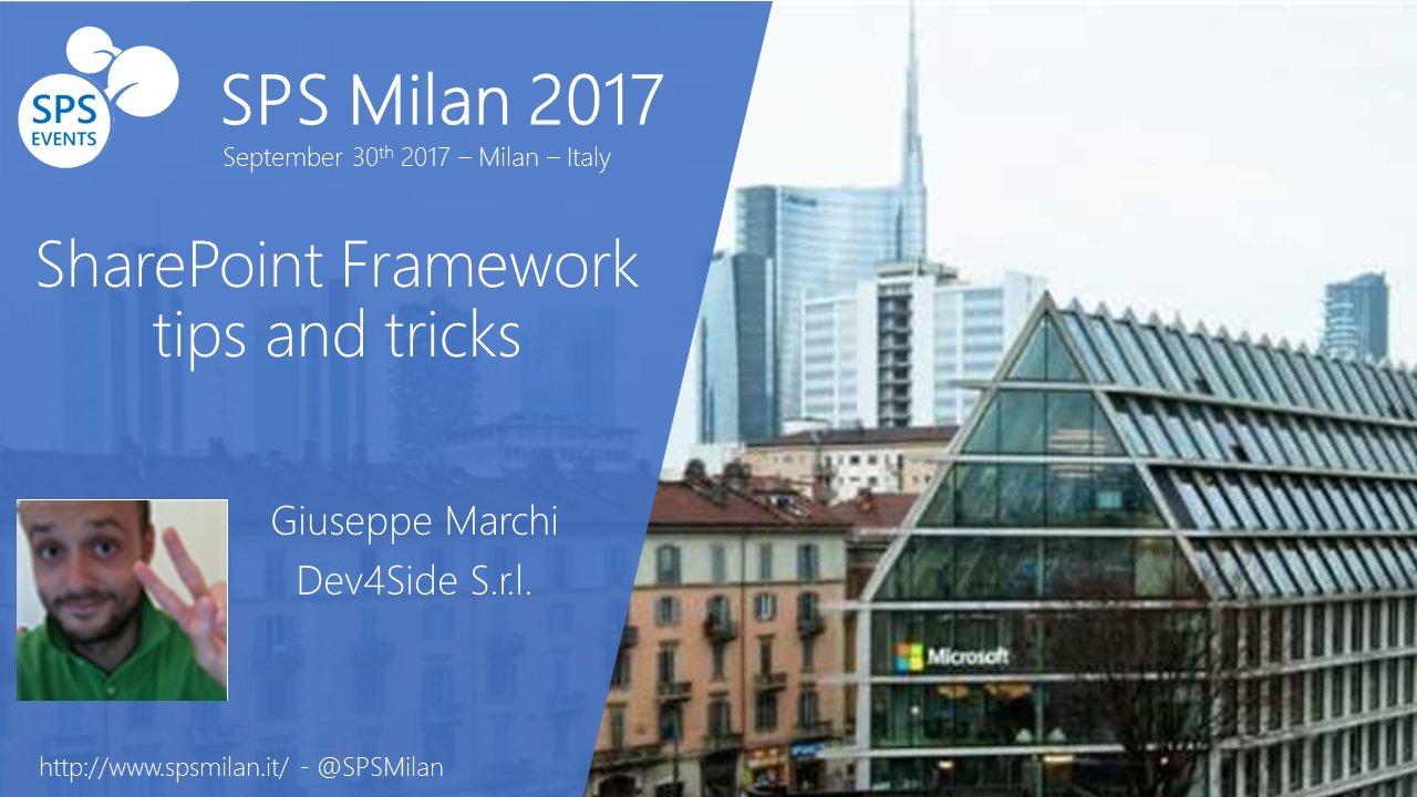 SharePoint Saturday a Milano il 30 settembre 2017