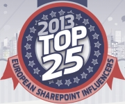 I'm one of the TOP 25 SharePoint European Influencers