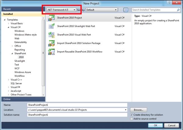 Visual Studio 11 for SharePoint Tip#1: template di progetto ed elemento