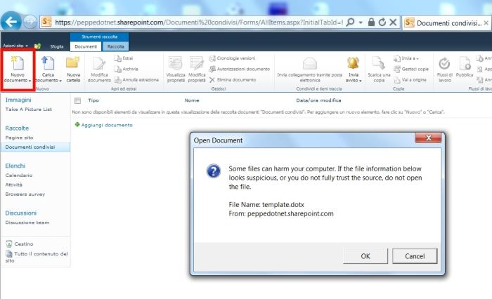 Non riuscite ad aprire file tramite le Web App di SharePoint Online?