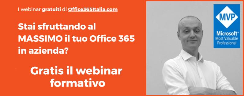Webinar gratuiti su Office 365